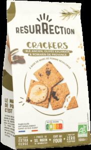 Crackers Blé Ancien, Olive Kalamata et Romarin de Provence - 100g